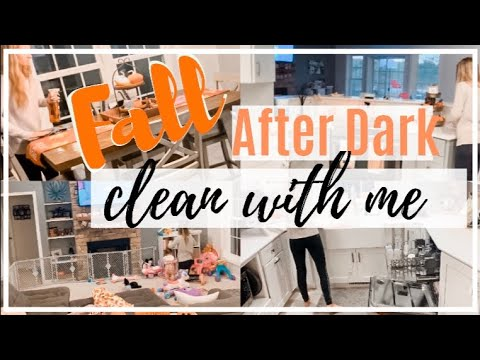 COZY FALL AFTER DARK CLEAN WITH ME  // FALL CLEAN WITH ME (2019) // CARLIE HETRICK