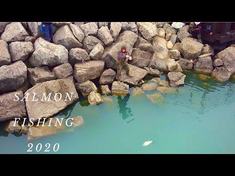 INCREDIBLE Lake Michigan SALMON Fishing Footage! (Drone)