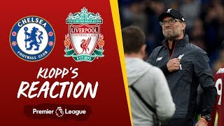 Klopp's reaction: 'It feels like a big one today' | Chelsea vs Liverpool