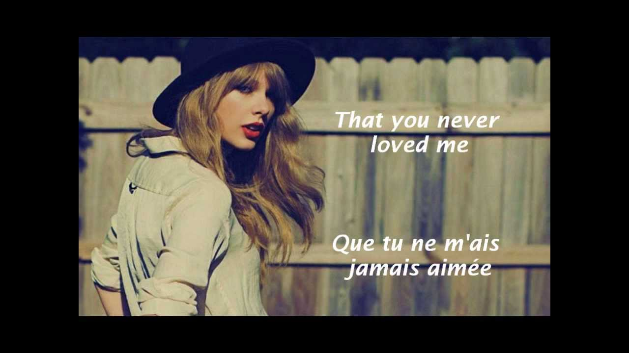 Taylor Swift I Knew You Were Trouble Paroles Et Traduction Youtube