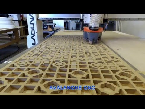MDF Panel cut by Avalanche CNC