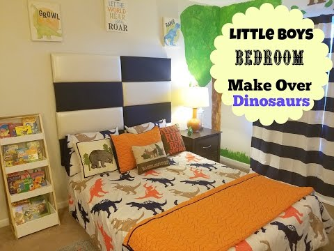"NEW BEDROOM MAKEOVER: LITLLE BOYS ROOM "" DINOSAUR THEME"""