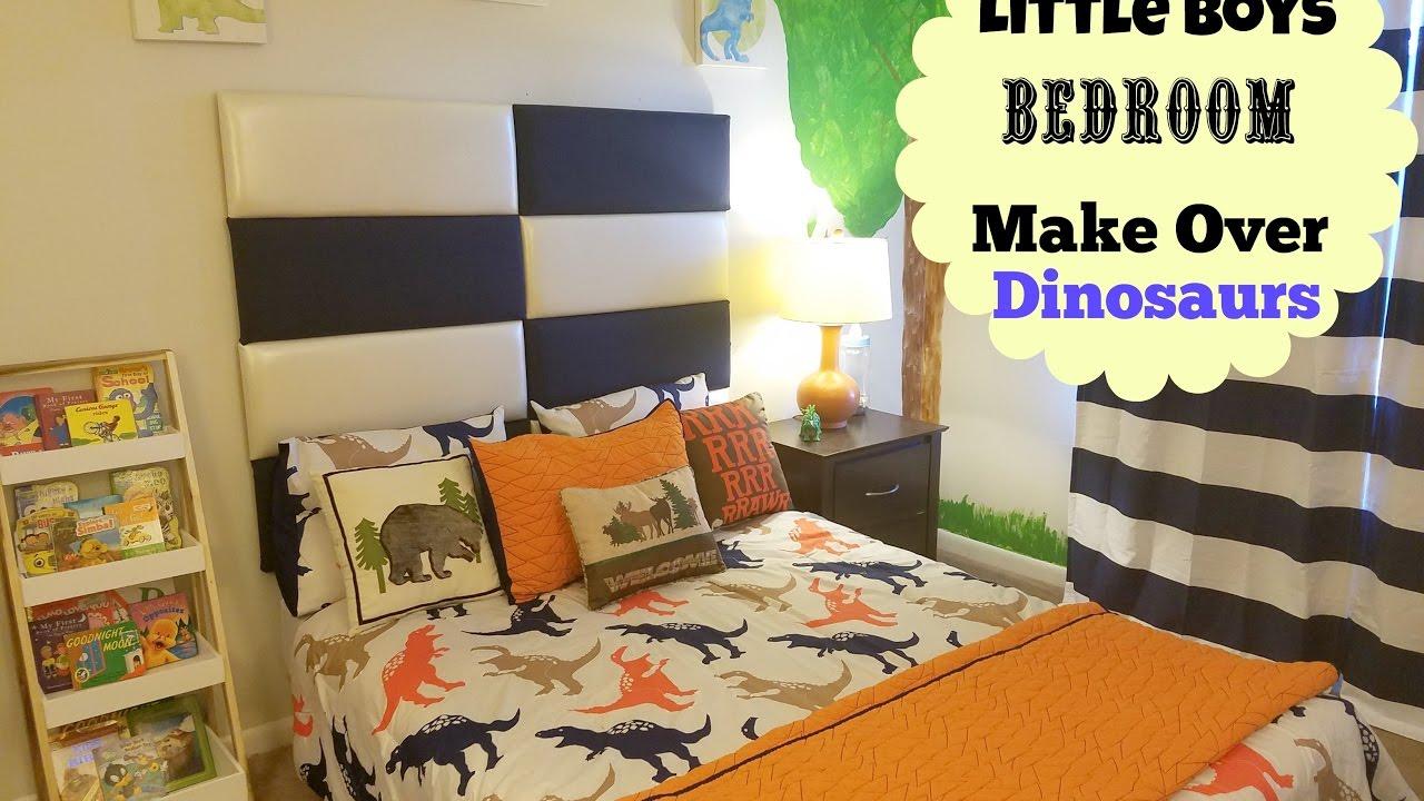 "NEW BEDROOM MAKEOVER: LITLLE BOYS ROOM "" DINOSAUR THEME"