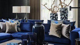 Blue living room decorating ideas 🔵