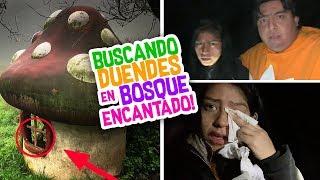 DUENDES REALES a MEDIA NOCHE en BOSQUE ENCANTADO 🌲Terror Fantástico - Vloggeras Fantásticas