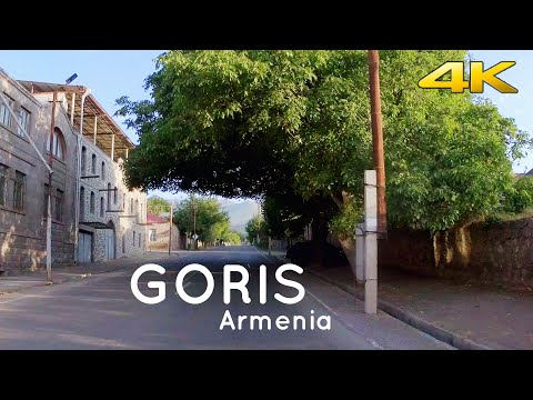 Driving in Goris, a beautiful city at the south of Armenia. 4K 60fps