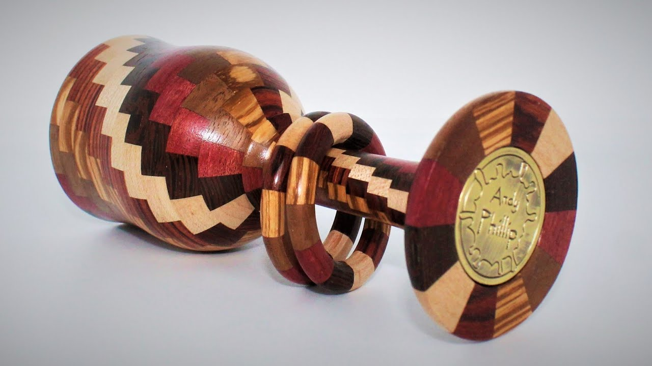 Woodturning - A Segmented Goblet