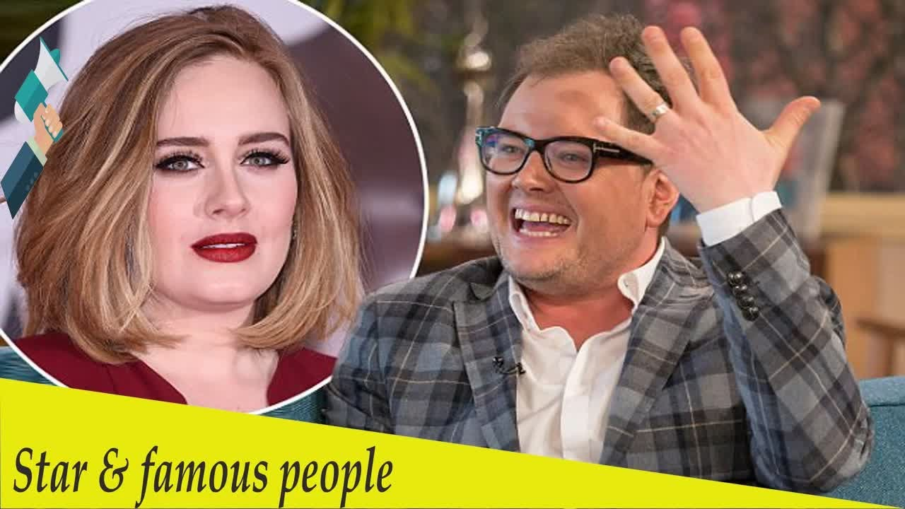 cf4278ec2a7 Adele got ORDAINED to marry Alan Carr and Paul Drayton in her garden ...