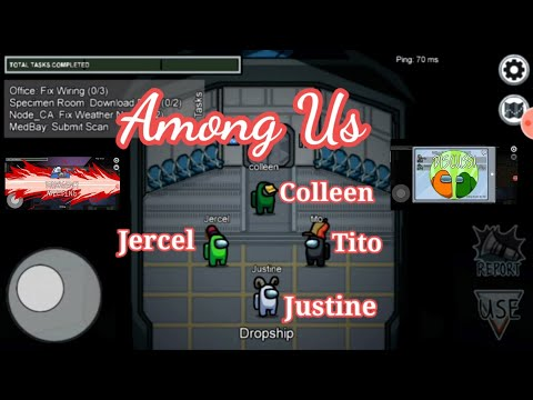 Justine, Colleen and Jercel playing Among us // tito as the host #Among us