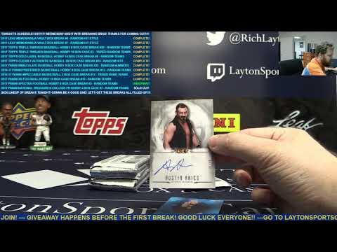 2017 Topps WWE Undisputed Wrestling Single Box Break for Joey L