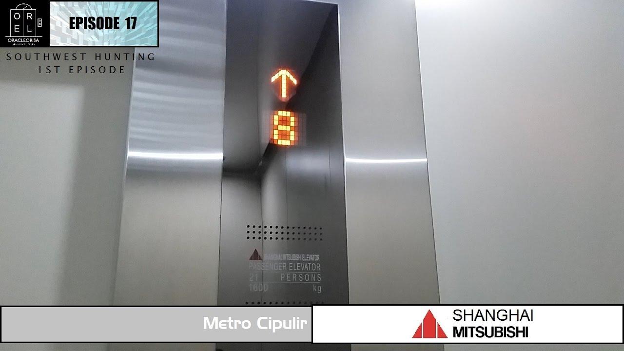 New Shanghai Mitsubishi Elevator At Metro Cipulir Youtube