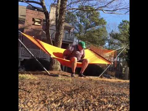 hammock fail big man 6 u00273 u201d 260 pounds goes whoops flips right over hammock fail hammock fail big man 6 u00273 u201d 260 pounds goes whoops flips right over      rh   youtube