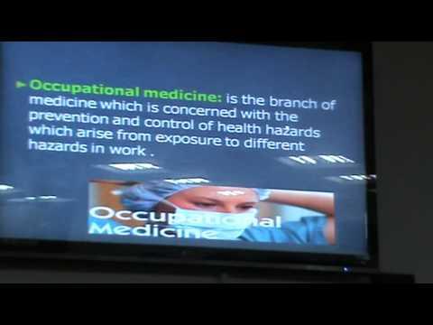 Occupational Health & Industrial Health Programme - Dr. Moshera Amin