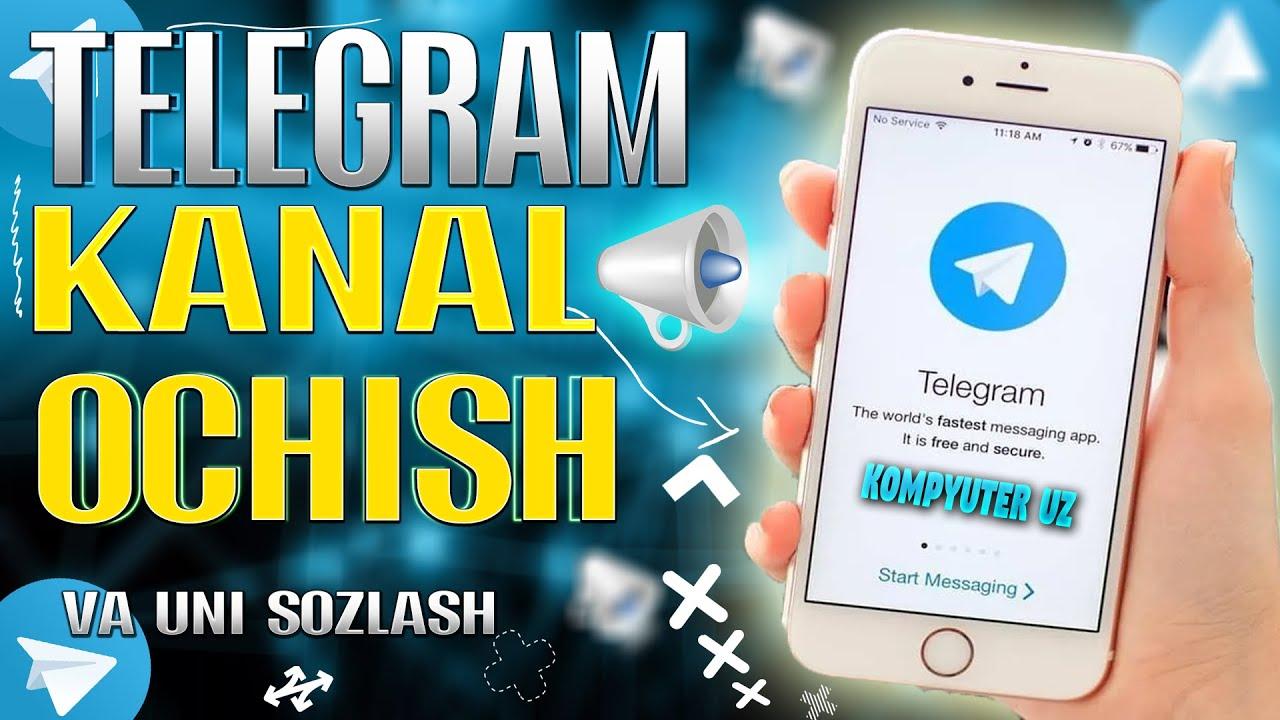 TELEGRAMDA KANAL OCHISH // VA UNI SOZLASH MyTub.uz