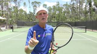 How To Develop A Topspin Kick Second Serve