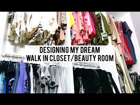 DESIGNING MY DREAM WALK IN CLOSET/BEAUTY ROOM! | JILL SAIKI