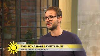 Han är bäst i Sverige på att putsa fönster - Nyhetsmorgon (TV4)
