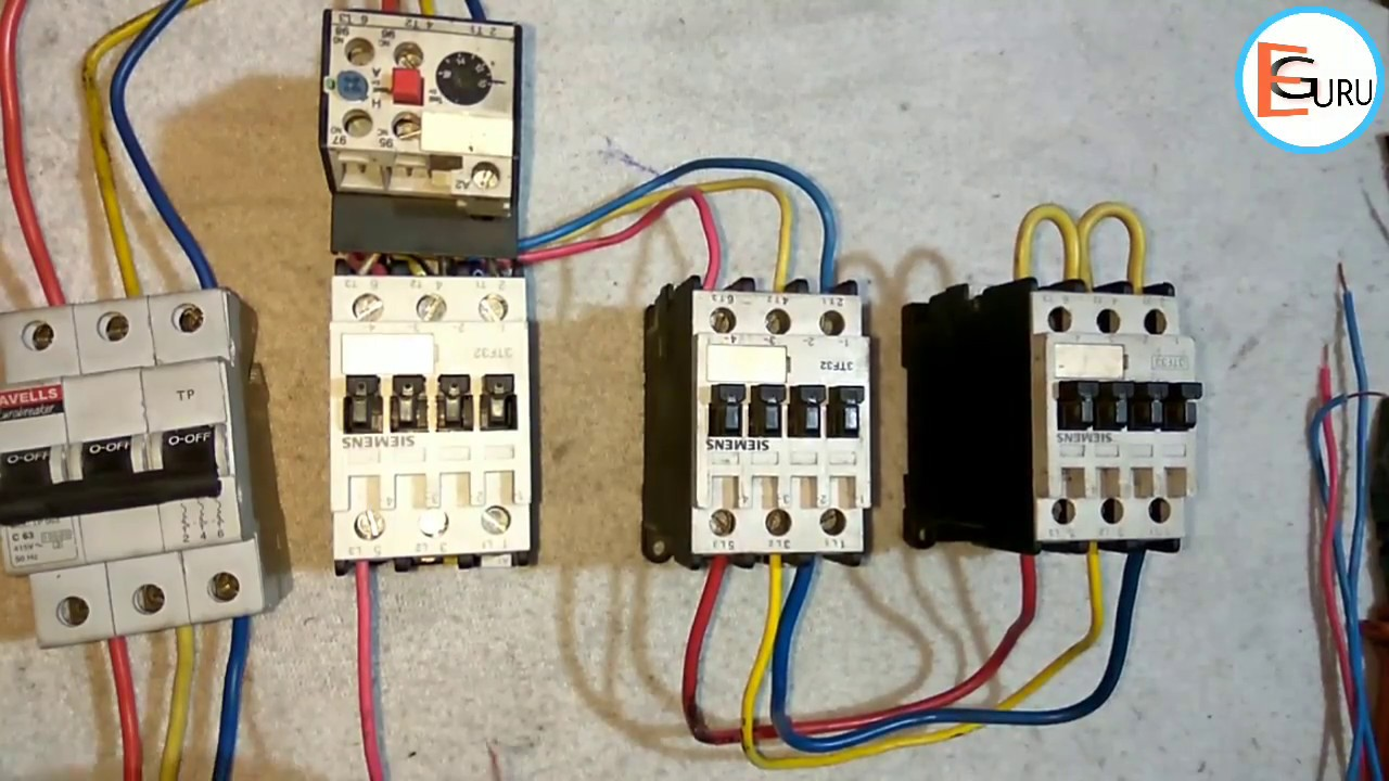 Star Delta Starter Power Wiring Electric Guru Electrical Engineering The Stardelta 3phase Motor Starting