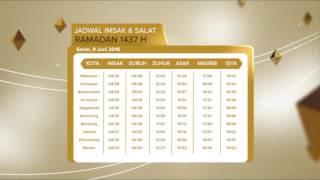 JADWAL IMSAK & SHOLAT 2016 - RTV
