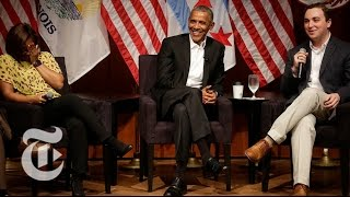 Former President Obama Steps Back Into Public Life   The New York Times