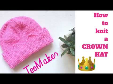 How To Knit A CROWN HAT | TeoMakes