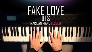 How To Play: BTS - Fake Love   Piano Tutorial Lesson + Sheets