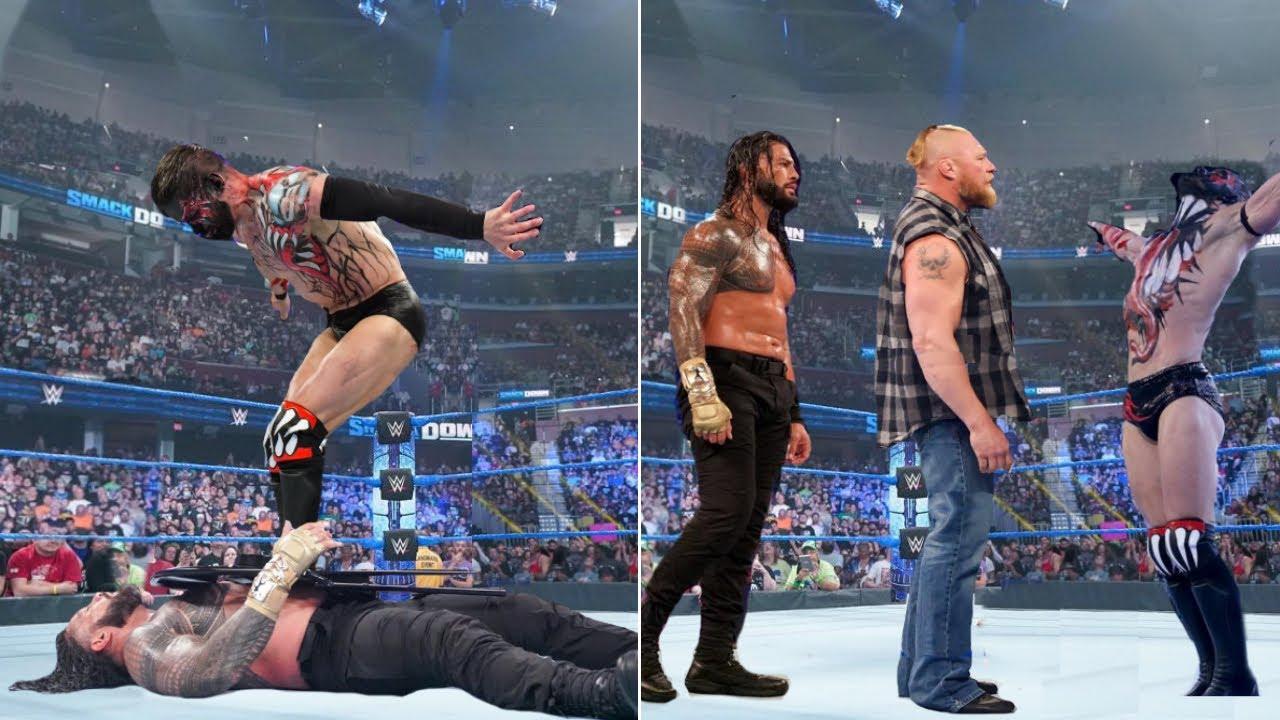 Demon King Finn Balor Destroy Roman reigns - Paul Heyman Joins Brock Lesnar   WWE Smackdown 2021