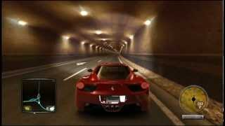 Ferrari 458 Italia - Test Drive Unlimited 2 HD Tunnel Blast Gameplay