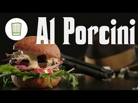 Mediterraner Burger mit Portobello-Pilzen und Parmesan - Al Porcini Movie-Burger   Chefkoch.de