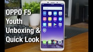 OPPO F5 Youth Unboxing & Quick Look