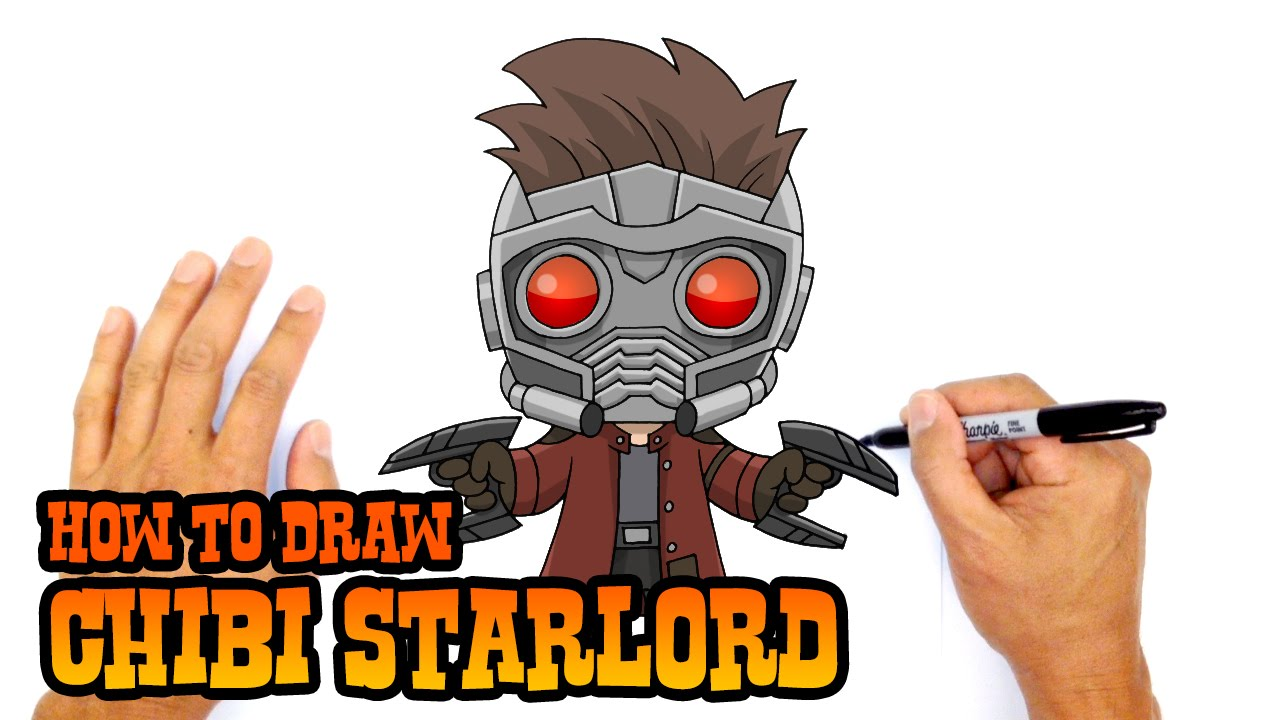 How To Draw Starlord Guardians Of The Galaxy Youtube