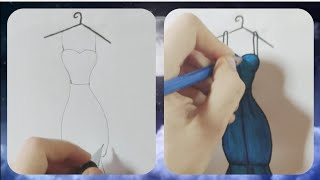How to draw a beautiful Girl's Dress