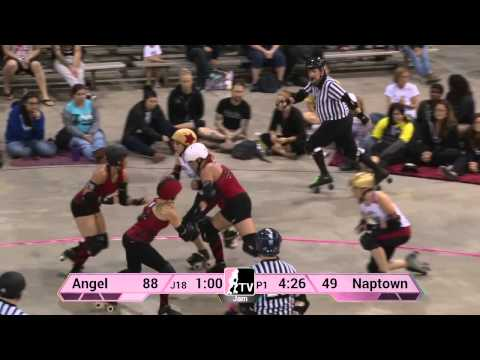 Angel City Derby Girls v Naptown Roller Girls: 2013 WFTDA D1 Playoffs in Richmond