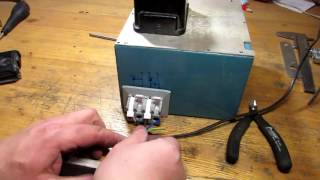 Работа гриндера от ДВУХ конденсаторов, для комфортного запуска и работы.