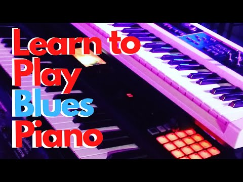 Blues Keyboard  Lesson  Step 1 part  1 of 4