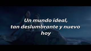 Aladdin 2019 | Un mundo ideal - letra (latino)