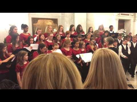 Severna Park Middle School Varsity Choir at the Maryland Statehouse.