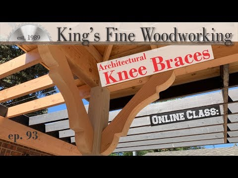 DIY Wooden Architectural Knee Braces, or Wood Corbels