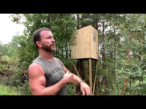 How To Build An Inexpensive Box Blind - Easy Shooting House! Deer Season Prep!