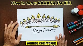 How to draw RAVANA for kids