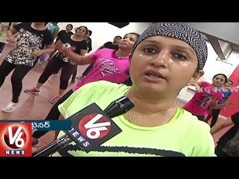 City People Shows Interest On New Trend Workout Juka Dance | Hyderabad | V6 News