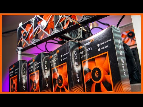 How much do Rig Fans help?  Let's Test and Quantify | Mining Rig Chasis Fans | Studio Rig Build Pt 2