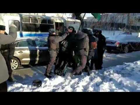 Жесткие задержания у посольства Японии в Москве. 22.01.2019
