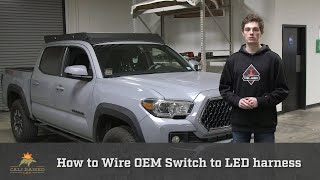 How to Install OEM Switch to Cali Raised LED Harness