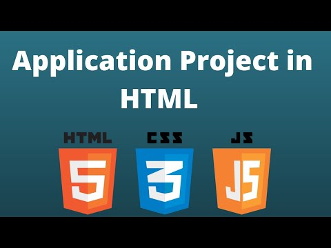 html Project 7 | How to create On-line application for admission in html | Hindi thumbnail