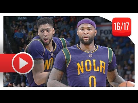demarcus-cousins-&-anthony-davis-full-highlights-vs-thunder-(2017.02.26)---69-pts,-17-reb