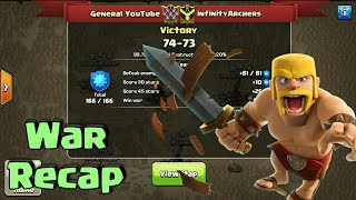 General YouTube - War Recap ! Clash Of Clans war ! General YouTube vs InfinityArchers !
