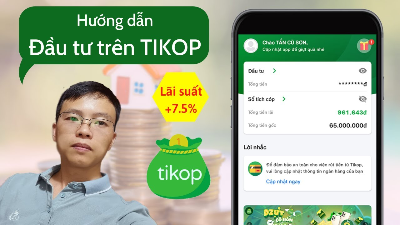 Cách đầu tư trên Tikop - App đầu tư tài chính uy tín lợi nhuận cao