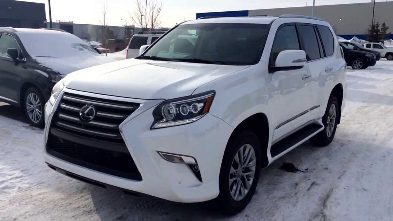 2014 White Lexus GX 460 Executive Demo Ultra Premium Package Review    YouTube