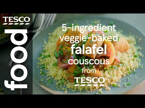 5-ingredient falafel with spicy tomato sauce | Tesco Food